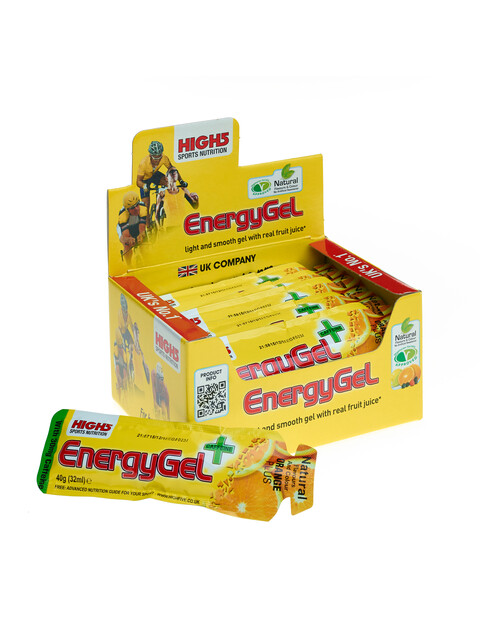 High5 EnergyGel Plus Box Orange 20 x 40g